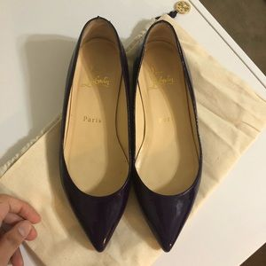 Christian louboutin pigalle flats size 35